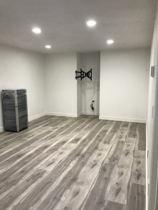 Newly renovated spacious basement suite in house.
